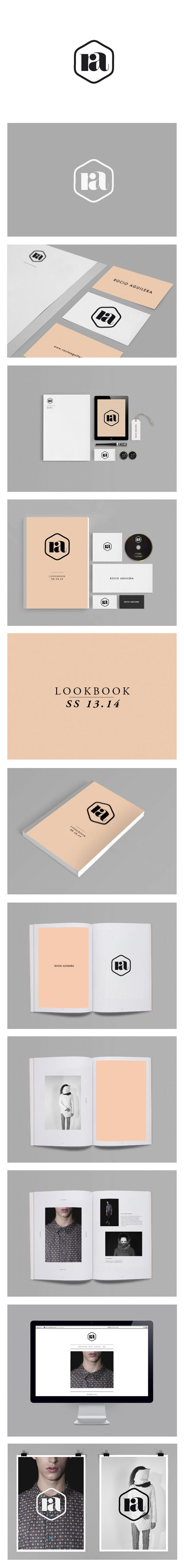 Branding, stationary and look book design for clothing label Rocio Aguilera. by David Sanden on Behance