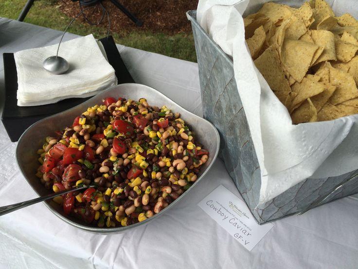 Cowboy Caviar with Organic Tortilla Chips, a fabulous GF appetizer.