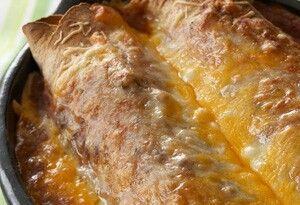 Cheesy Turkey Enchiladas with Tomatillo Salsa and Cilantro  Servings: Serves 4