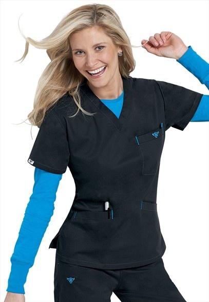 Medcouture by Peaches EZ Flex classic v-neck scrub top. My favorite scrubs!