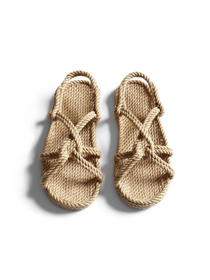 <p>Handwoven sandals with knot-detail design in collaboration with Gurkee's.</p>