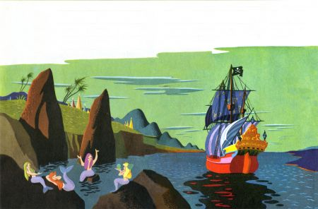 Peter Pan art by Mary Blair. Loved this book when I was a kid.
