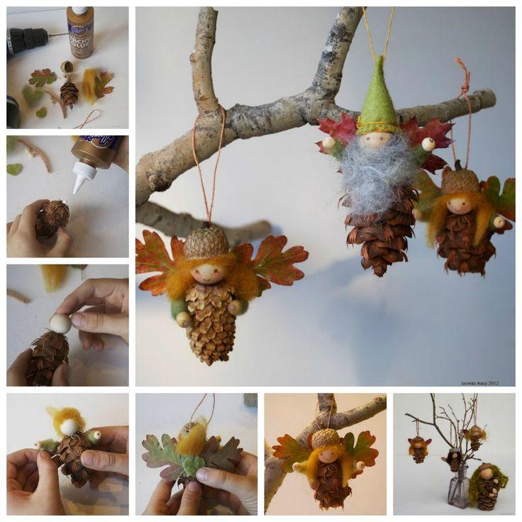 Creative Ideas - DIY Cute Pinecone Fairy Ornaments | iCreativeIdeas.com Follow Us on Facebook --> https://www.facebook.com/iCreativeIdeas