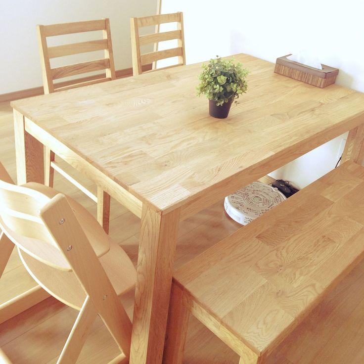 ダイニングテーブル/IKEA…などのインテリア実例 - 2014-12-30 12:19:35 ... 女性で、のダイニングテーブル/IKEA/ベンチシート/オーク材/無垢