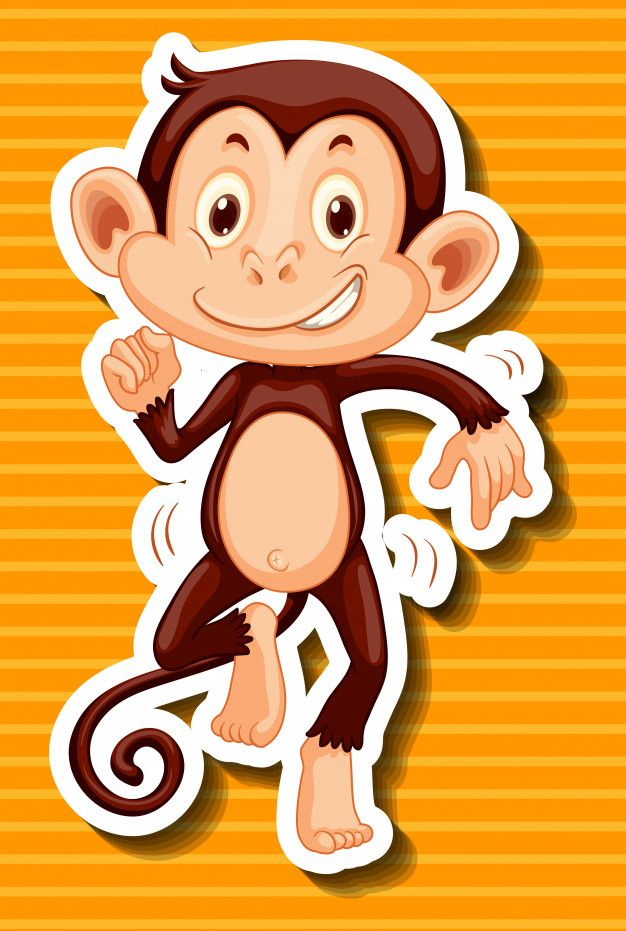 Download Monkey Dancing On Yellow Background For Free Yellow Background Monkey Dance Vector Free