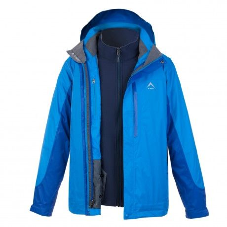 K-WAY MEN'S ROMULUS 3 IN 1 JACKET: An extremely multifunctional three-in-one jacket that, although primarily designed for snow-sports, can be worn three different ways for different weather conditions, and activity requirements. The outer shell jacket sports a waterproof, vapour-permeable (breathable) K-Tech fabric. This jacket can be worn alone on mild, wet days, or in combination with the inner (removable) softshell jacket for cold, wintry days.