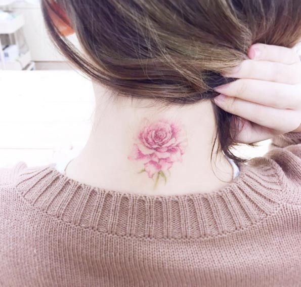 Rose on Back of the Neck by Banul