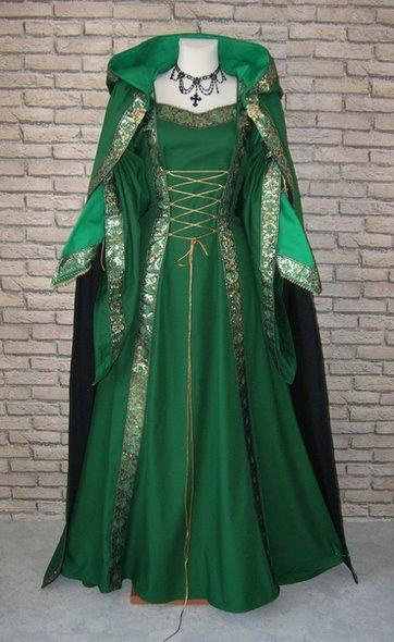 Irish folk dress - inspiration for skate dress