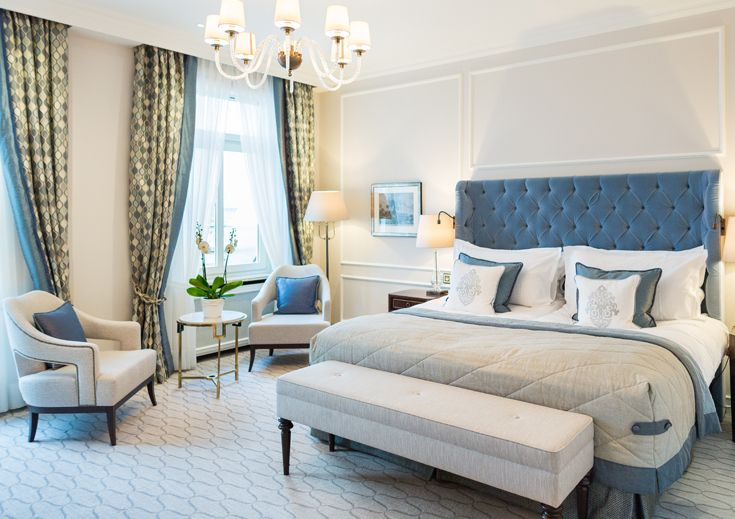 The best of contract furniture and bespoke upholstery can be found in the amazing Fairmont Hotel Hamburg, with its plush upholstered headboard! #preggoupholstery #yourideaoursolution