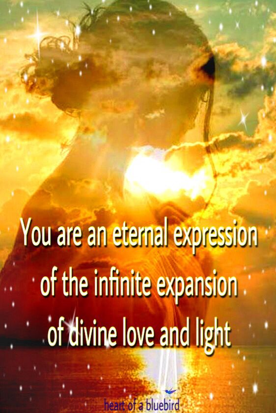 you are divine ...You are and eternal expression of the infinite expansion of divine love and light @michaelsusanno