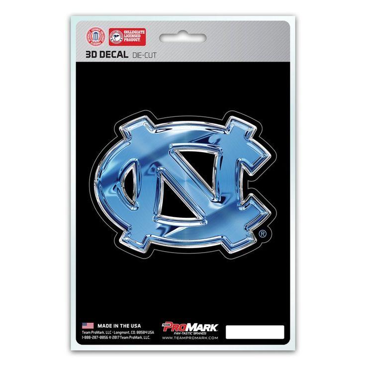 North Carolina Tar Heels Decal 5x8 Die Cut 3D Logo Design