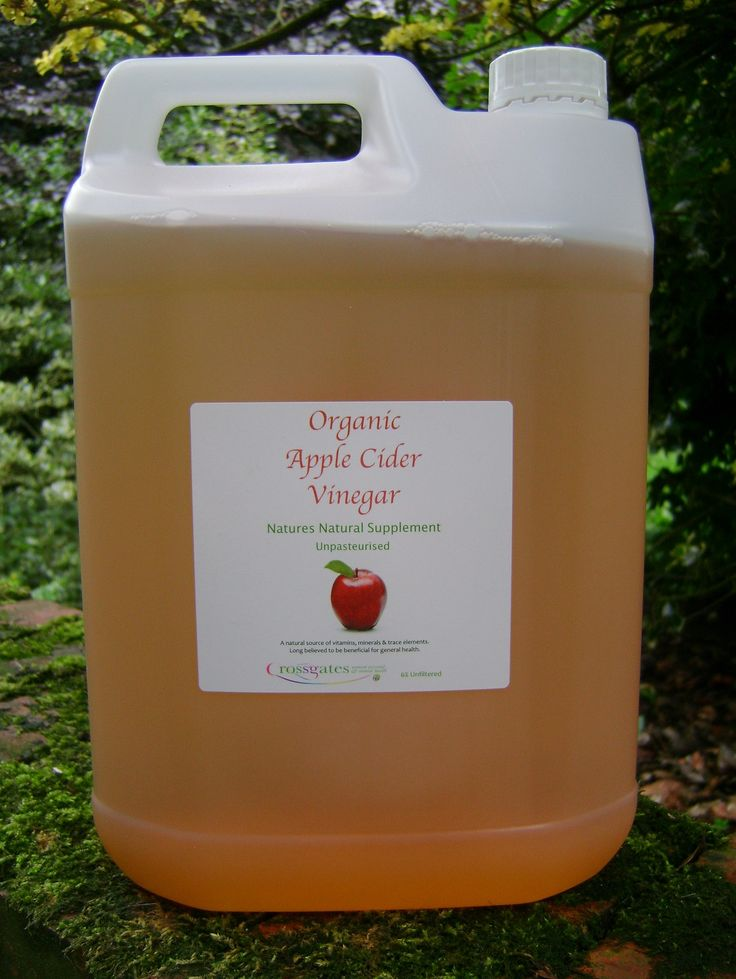 ORGANIC APPLE CIDER VINEGAR  Apple cider vinegar is a natural source of vitamins, minerals and trace elements. Long believed to be beneficial for general health, the immune system, digestion, joints, urinary, skin problems, coat condition, parasites and much more. In poultry, apple cider vinegar also reduces the incidence of soft shelled eggs and slows down the rate of algae growth in drinkers.