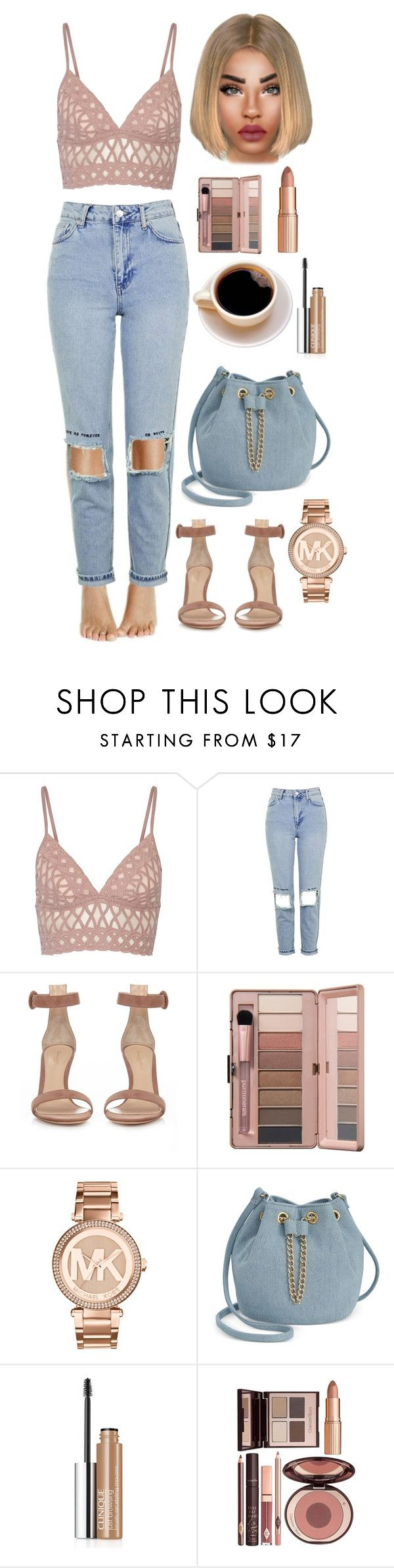 """Simkhai"" by lovelydgessy on Polyvore featuring Jonathan Simkhai, Topshop, Gianvito Rossi, Michael Kors, INC International Concepts, Clinique and Charlotte Tilbury"