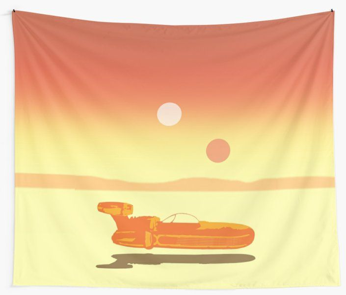 25% OFF Wall Art. Use code WALLS25. Landspeeder Wall Tapestry. #sales #save #discount  #scifi #movie #walltapestry #tapestry #redbubble #movies #cinema #cinephile #popular #home #art #design #homedecor #homegifts #art #design #online #shopping #giftsforhim #family #style #fashion #bachelor #mancave #giftsforher #xmasgifts #christmasgifts #cinephile #39 #deals #dorm #campus #fraternity #house #decor • Also buy this artwork on home decor, apparel, stickers, and more.