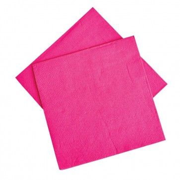 Our Hot Pink napkins come in packs of 20 and are 2 ply so strong enough to clean up the wildest of hens nights!  http://www.peckaproducts.com.au/hot-pink-napkins-pack-of-20.html
