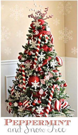 Peppermint and Snow Tree Michaels Dream Tree Challenge