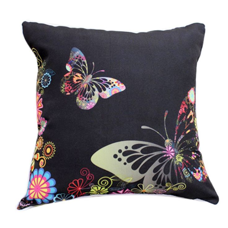 """18"""" Square Butterfly Print Polyester Decorative Pillow Cover   #cushions #pillows #decor #pattern #country #homedecor #livingroom"""