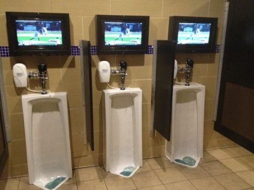Man cave bathroom  probably only need the one. 1000  images about Man cave ideas on Pinterest   Garage bathroom