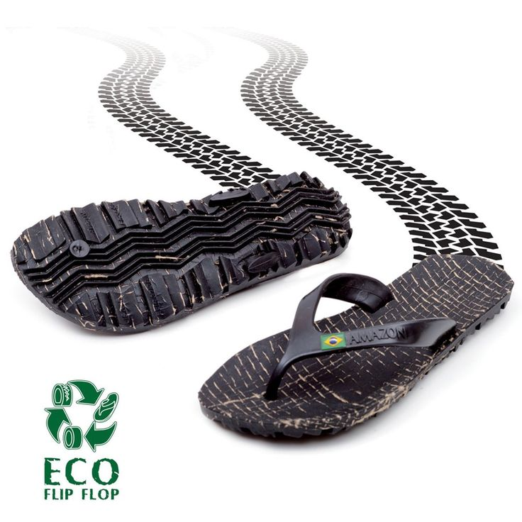 Amazon Recycled Sandals/Jandals/ThongsEco Jandals / Flip flops / Thongs made in Brazil from recycled tyre rubber.Old car tyres are chipped and then blended with Cipo, a natural plant sustainably harvested from the Amazon rainforest, to form soles that are ergonomic, anti-skid, incredibly comfortable, durable and vegan.The tyre tread moulded soles give good traction and are a great conversation starter! The straps are formed from natural rubber.