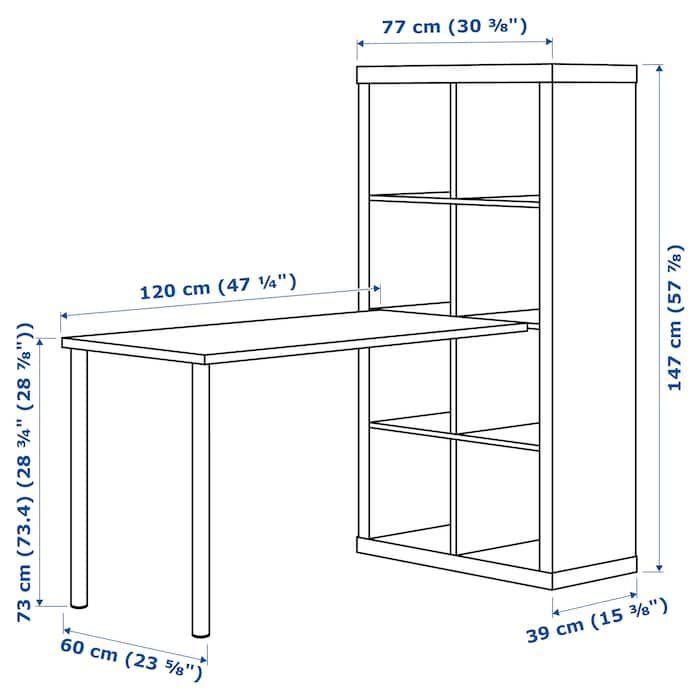 KALLAX Schreibtischkombination Eicheneff wlasweiß IKEA