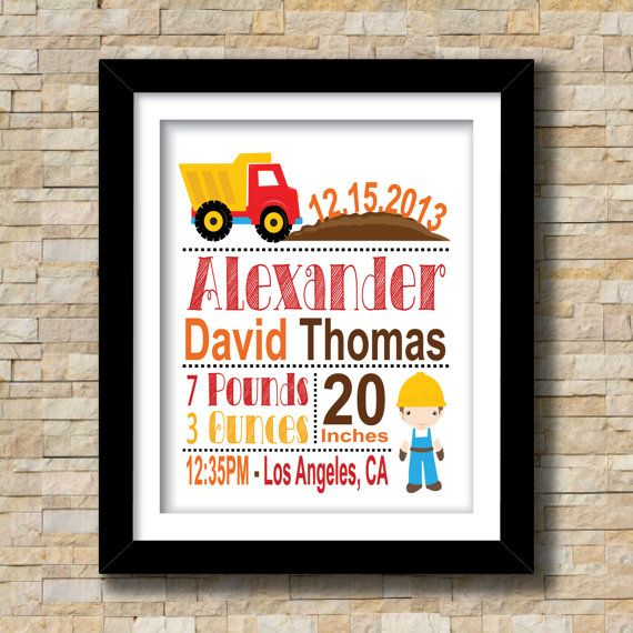 Hey, I found this really awesome Etsy listing at https://www.etsy.com/listing/184071560/construction-themed-birth-announcement