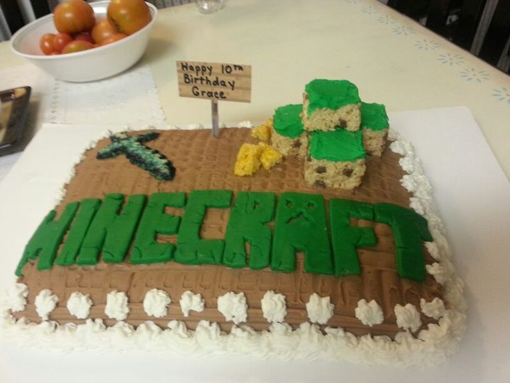 Gold Cake Decorations Tesco : 1000+ ideas about Homemade Minecraft Cakes on Pinterest ...