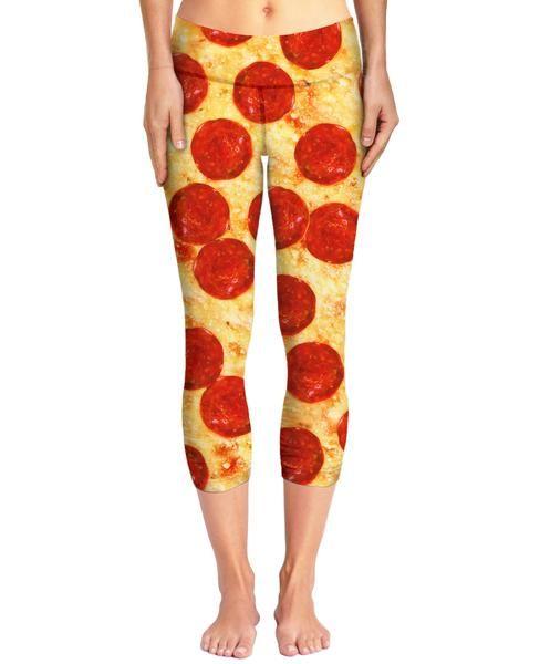 Pizza Capri Yoga Pants | Mopixiestore.com