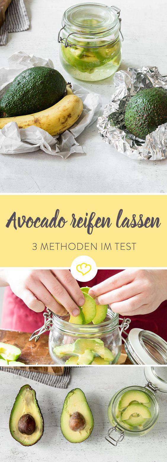 Eine harte Avocado gekauft und keine Zeit zu warten, bis sie von alleine weich und cremig geworden ist? Wir testen ob und wie das Nachreifen schneller geht.