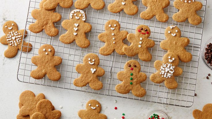 Bring a tempting aroma and goodness into your kitchen with hard-to-pass classic gingerbread cookies.