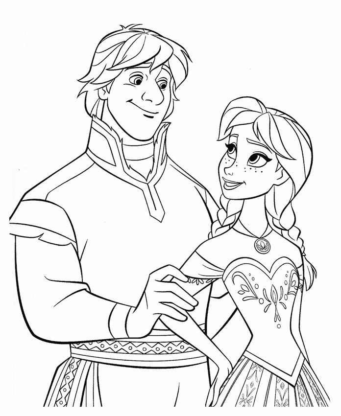 Frozen Coloring Pages Anna And Kristoff Frozen Coloring Pages Frozen Coloring Princess Coloring Pages