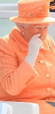 Her Royal Majesty The Queen in Southampton at the Launch of the P&O Luxury Cruise Vessel named 'Britannia' on 10th March 2015. The Queen is wearing Custom made Cornelia James White Gloves. See more of Cornelia James White Gloves here! http://www.corneliajames.com/Bridal-Gloves