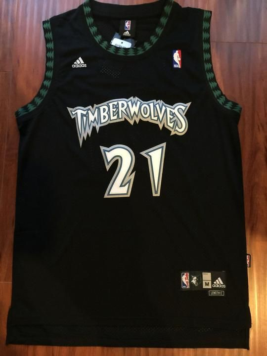 88c86ff7b88 Men 21 Kevin Garnett Jersey Black Minnesota Timberwolves Swingman Jersey