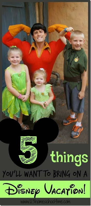 5 Things you'll want to bring on a Disney World Vacation (family vacation, Disney, Disney vacation, Disney planning, Disney tips)