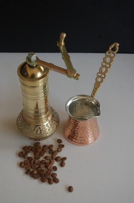 Turkish Coffee Grinder and Pot