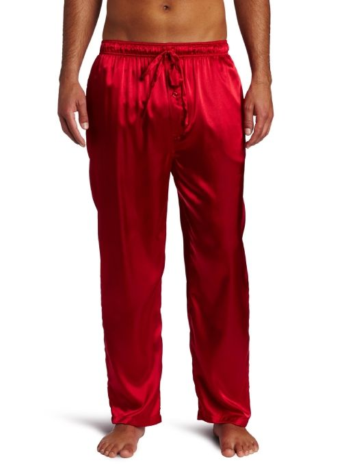 Mens Red Satin Pajama Pants