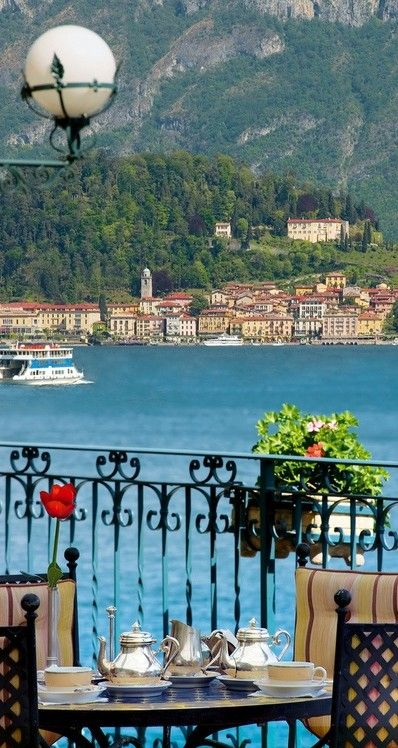 The Grand Hotel Tremezzo on Lake Como, Italy (Aahh Como -one of my favourite places on earth)***