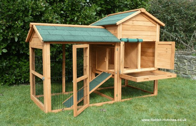 Giant Super Large Rabbit Cage | One of this rabbit hutch's most popular features, apart from its size ...