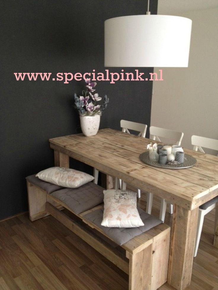 #Eettafel Beau, gebruikt #steigerhout