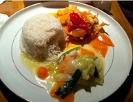 Local Indonesian food: Anyer Beach, Indonesia