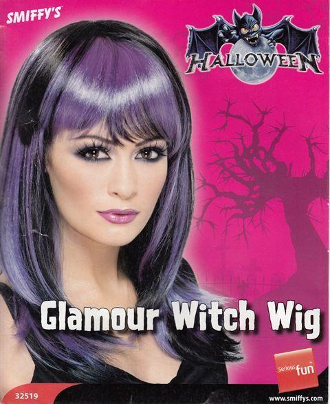 Parrucca capelli lunghi e lisci color nero e viola. Per una strega davvero fashion ad Halloween ma anche a Carnevale e per feste a tema. Disponibile da C&C Creations Store.