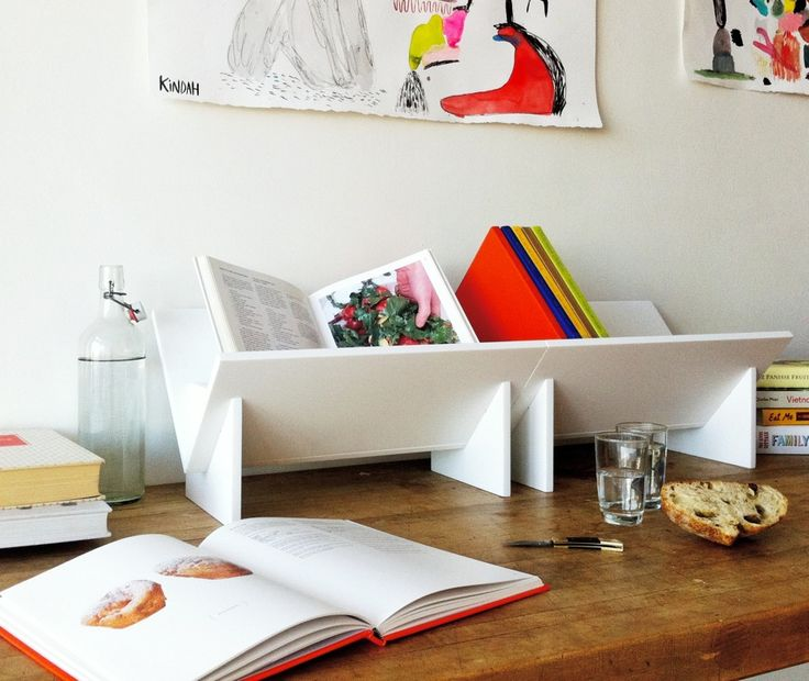 Love This Tabletop Bookshelf Idea And The Sturdy Corian Material (from  Book/shop In Oakland)