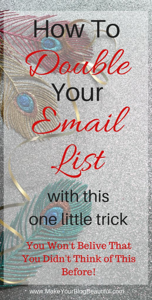 How to double (or triple) your email list subscribers with this one little trick. You won't believe that you didn't think of it before! Here's how to put your list building on steroids, and help other bloggers at the same time.