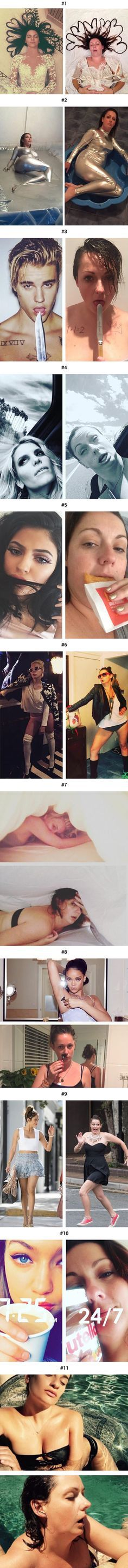 I want to be her friend! Woman mocks celebs insta feed
