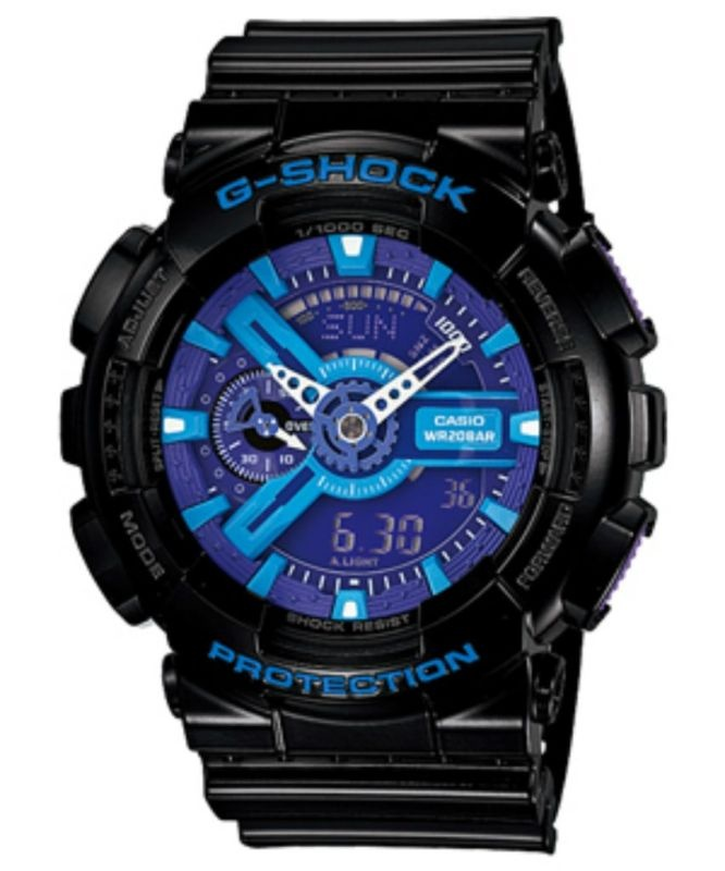 1000 images about watches g shock watches watches casio g shock mens xl watch crazy colors black blue purple ga 110hc 1a ga110hc