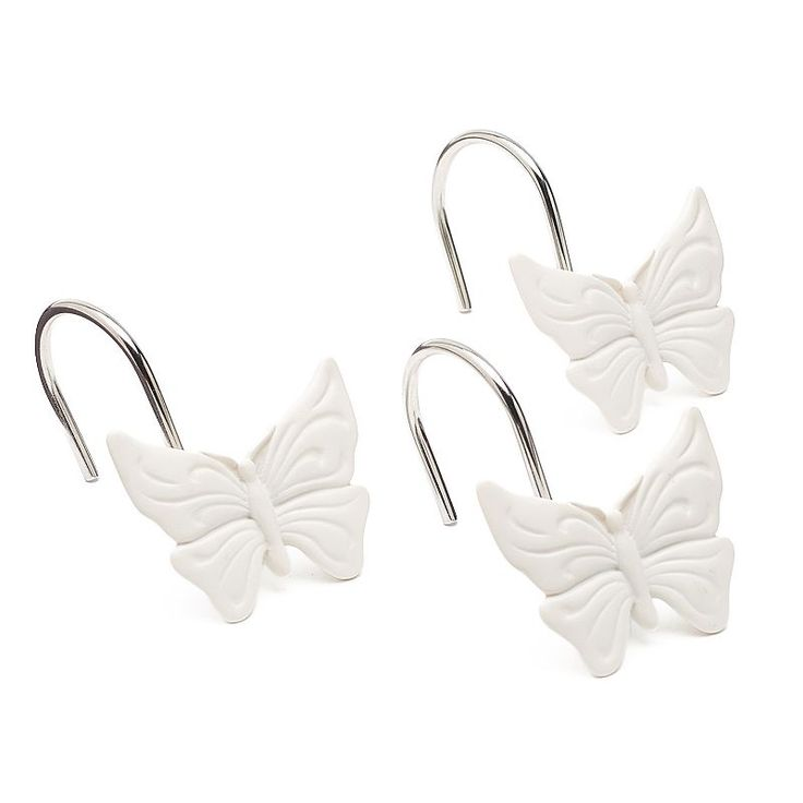 LC Lauren Conrad 12-pack Butterfly Shower Curtain Hooks, White