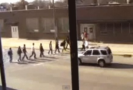 This well planned 15 minute traffic stopper: | The 12 Greatest Senior Pranks Ever Caught On Camera