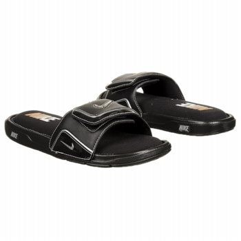 Men's Nike Comfort Slide Black/Metallic Silve