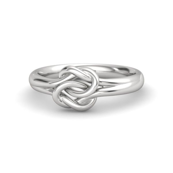 Sterling Silver Ring | Plain Lover's Knot Ring | Gemvara