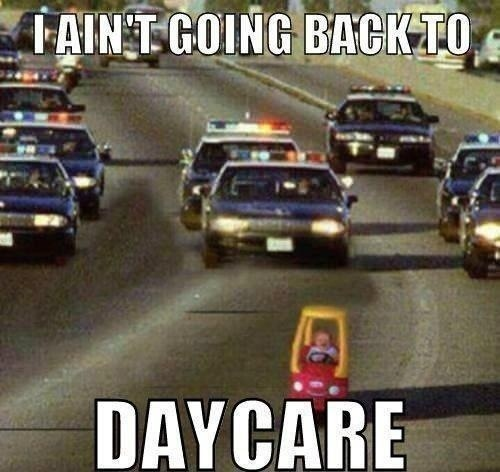 Haha.: Daycares, Cops, The Police, Sons, Police Cars, Funny Stuff, Kids, Running Away, Day Care