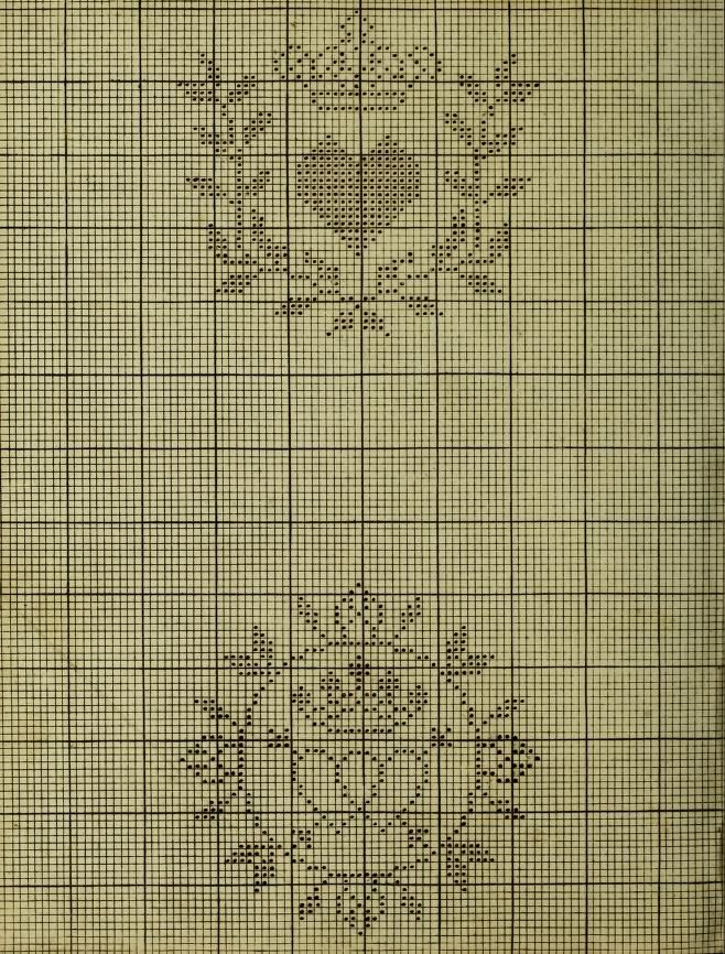 Embroidery patterns laurel wreaths crown cross stitch point de croix